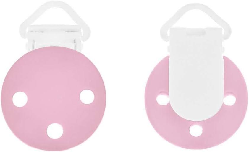 Baiyao 1 Pc Chupete redondo para beb/é con clip de silicona Juguetes Educativos Decoraci/ón de Habitaci/ón rosa
