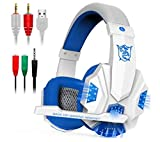 EVERFIND Gaming Headset Mic LED Light Laptop Computer Cellphone, PS4 The New Xbox