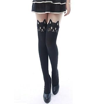 6b1617bd73e Amazon.com  Eforcase Lovely Sexy Cat Leggings Tattoo Socks Slim ...