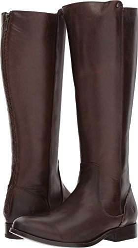 Equestrian Boot Style (FRYE Women's Melissa Stud Back Zip Riding Boot, Chocolate, 9.5 M US)