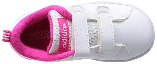 adidas Vs Advantage Clean Cmf Inf, Zapatos de Primeros Pasos para Bebés Blanco (Ftwbla / Ftwbla / Rosimp)