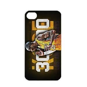 NBA Los Angeles Lakers Kobe Bryant Apple iPhone 4 / 4s TPU Soft Black or White case (White) by icecream design