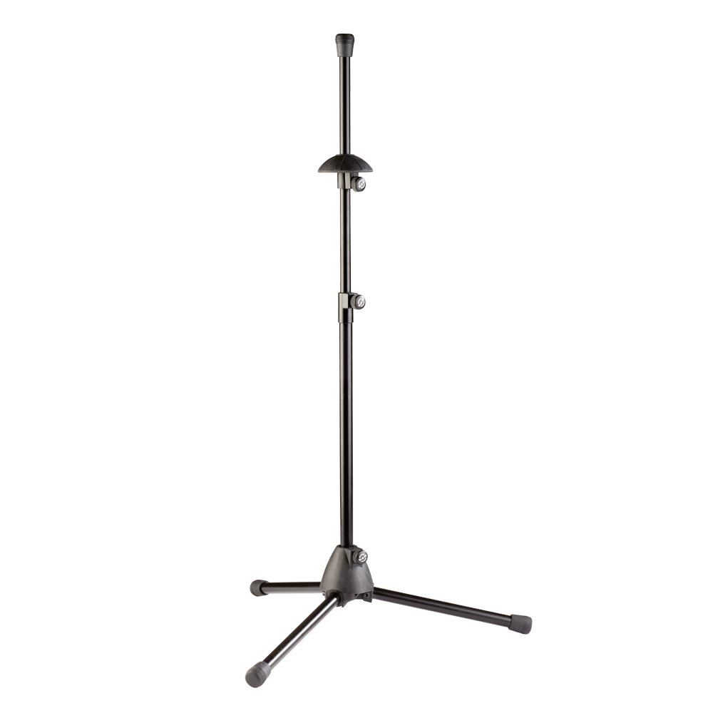 K& M Stands 14985-BLACK Trombone Stand with Foldable Legs Connolly Music Company 14985.000.55