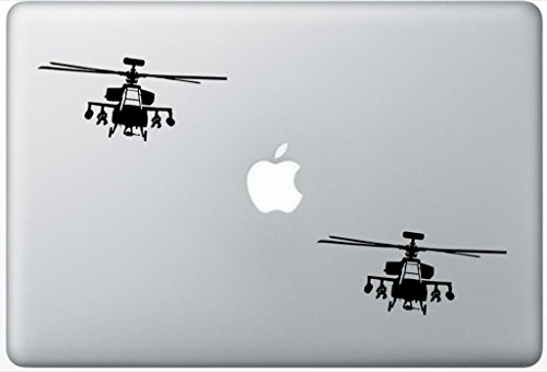 Helicopter Apache Modern Warfare FlashDecals3144 Set Of Two (2x) , Decal , Sticker , Laptop , Ipad , Car , Truck