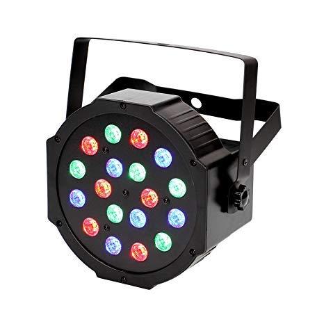 LED Par Light 18 LED Discolicht mit Musik-activated, Auto-run und DMX512 Steuermodus, 24W