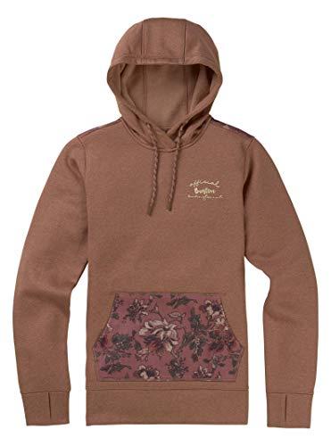 Burton Women's Oak Pullover Hoodie, Brownie/Floral Camo, Large -