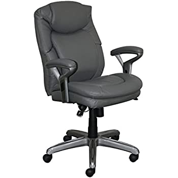 Serta CHR10052A Wellness By Design Office Chair, Mid Back, Gray