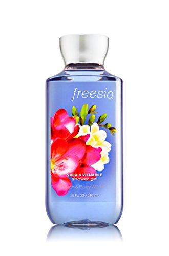 Bath & Body Works Gift Set Freesia Lotion & Freesia Gel with a Jarosa Bee Organic Peppermint Lip Balm