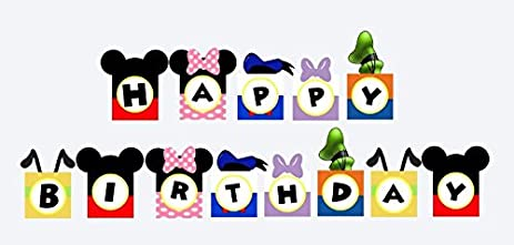 Amazon do it yourself mickey mouse clubhouse birthday banner do it yourself mickey mouse clubhouse birthday banner solutioingenieria Image collections