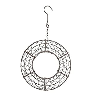 ZAMTAC Wire Wreath Frame Flowerpot Hanging Plant Holder for Succulent Plants 108