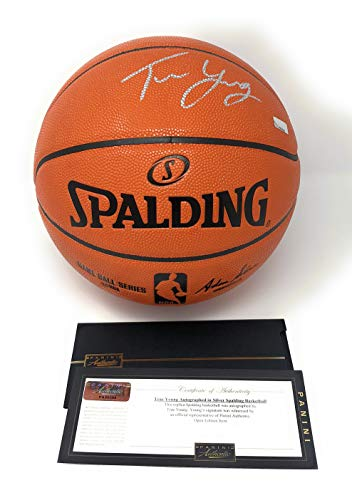 Trae Young Atlanta Hawks Signed Autograph NBA Game Basketball Panini Authentic Certified Atlanta Hawks Player Series