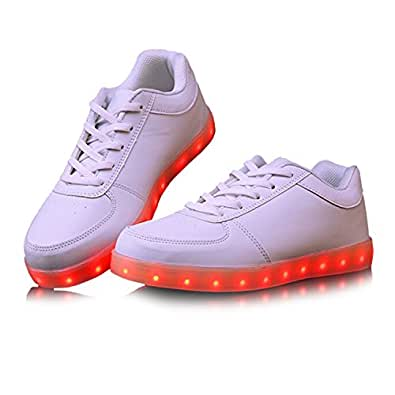 Monika Creations Unisex USB Chargeable Black LED Simulation Shoes Sneaker, Shoes Sneaker for Improve Personality (9, Black)