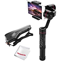 Zhiyun Smooth 3 3-Axis Handheld Gimbal for Smartphone(Max.6') 260g Payload 14hrs Runtime Real-Time Control Exposure Compensation ISO White Balance Shutter Speed Focusing W/ PERGEAR Cleaning Kit