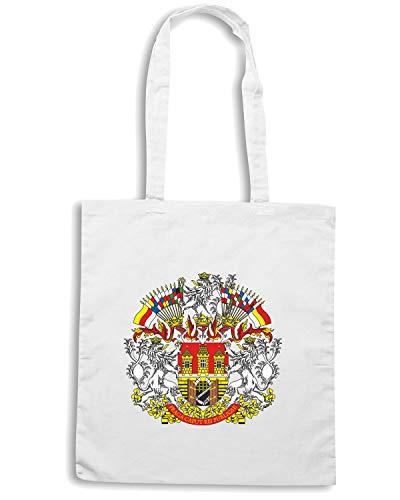 Shopper TM0116 EMBLEM Speed PRAGUE Shirt CITTA Bianca Borsa wIxwqErPYn
