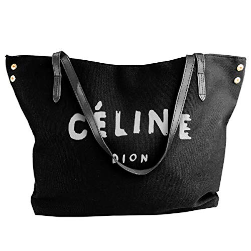 (Canvas Tote Bag Celine Dion Totes Purse Handbags Shoulder Bags For Women)