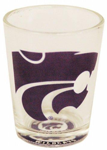 NCAA Kansas State Wildcats Shotglass Bullseye Bottom ()