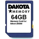 64GB Memory Card for Nikon D5300