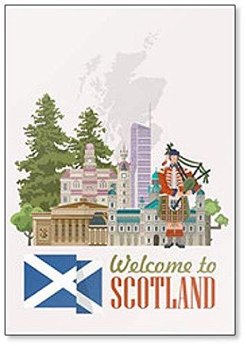 Welcome To Scotland classic fridge magnet (Scotland Fridge Magnet)