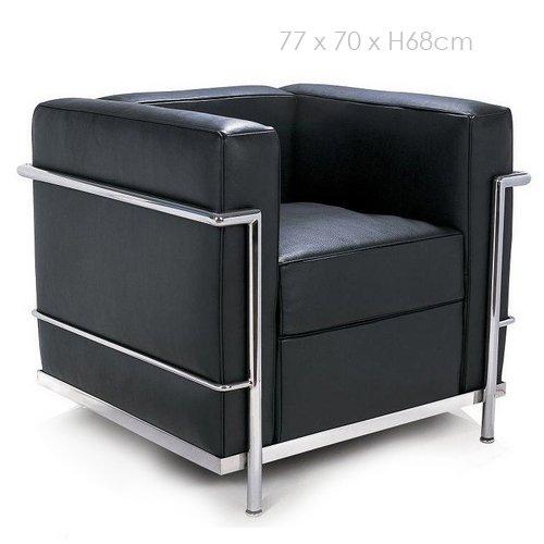 Dekodirect - Sillón LC2 Le Corbusier Negro: Amazon.es: Hogar