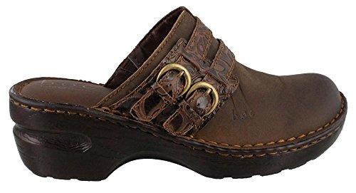Womens B.O.C., Aderyn mid heel Clogs BROWN TOOLED 8 M (Mid Heel Womens Mules)