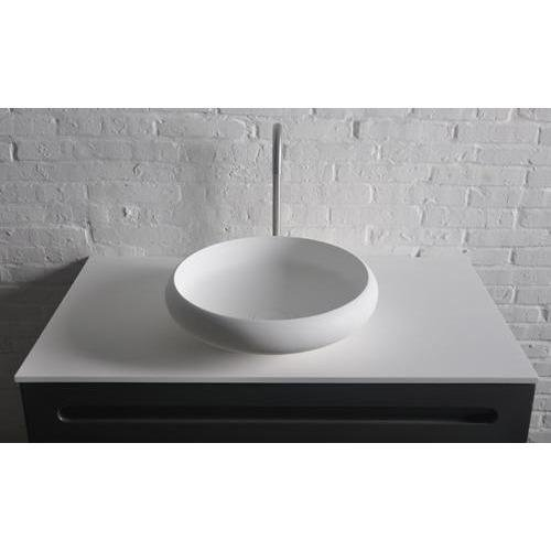 ID Ego Solid Surface Vessel Sink Bowl Above Counter Sink Lavatory Washbasin by ID Bath Collection
