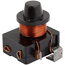 eDealMax 1/8 HP Refrigerator Electromagnetic Starter Compressor PTC Relay Black