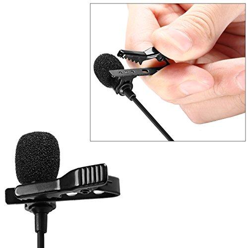 Neewer Microfono a Condensatore Lavalier da Bavero per Registrazioni, di Dimensione Compatta con Clip, Compatibile con iPhone Android Windows Smartphone per YouTube Registrazioni Video