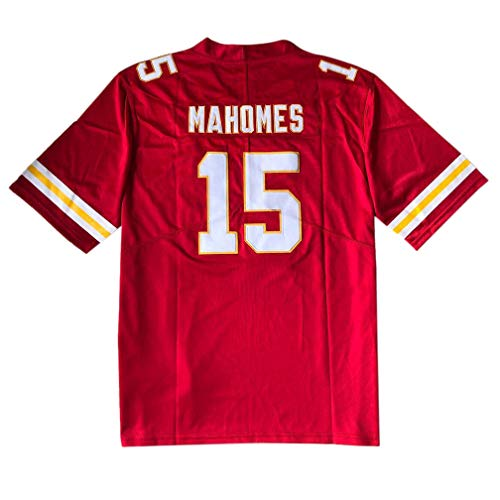 15 Home Jersey - Embroided Men's Ma_Home #15 Fans Sports Fashion Jersey Red (Red, L)