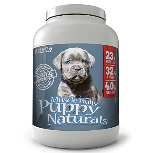 Muscle Bully Puppy Naturals - A Multi-Vitamin Formula for Growing Puppies - Supports Growth, Health, Skin, Coat & Overall Well-Being, Veterinarian Formulated, Made in USA - (225 Serving)