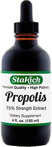 Stakich Bee Propolis 4 Ounce Liquid Extract, 75%