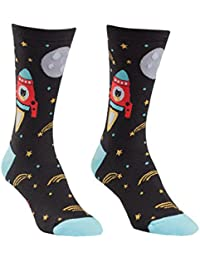 Space Catdet Womens Crew Socks, Multi, One Size Fits Most