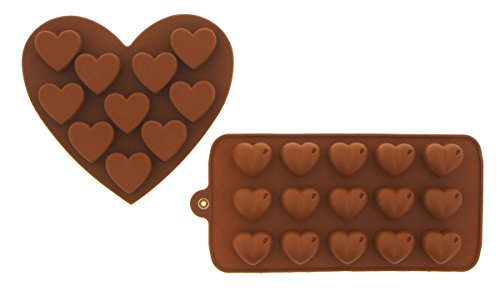 Silicone Chocolate Hard Candy Mold Set Heat Resistant - 2 Piece Set - 5.5