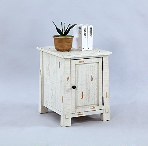 Progressive Furniture T410-29 Willow Chairside Cabinet, White (Table Furniture Progressive End)