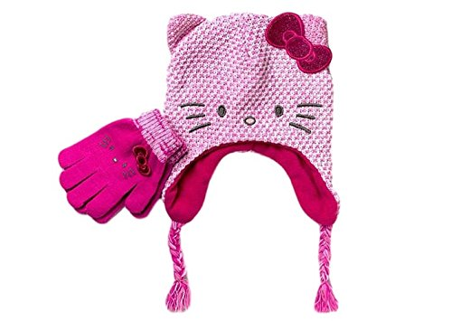 5bf2564c5 Girls Knit Hat and Glove Set Hello Kitty Pink Cold Weather 2 Pc Set - Buy  Online in Oman.   Apparel Products in Oman - See Prices, Reviews and Free  Delivery ...