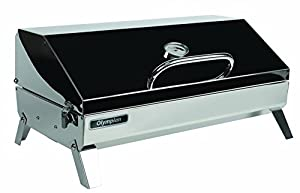 Camco Olympian 5500 Stainless Steel Portable Propane Gas Grill with RV Mounting Bracket and Folding Legs for Tabletop Use (57305) from Camco