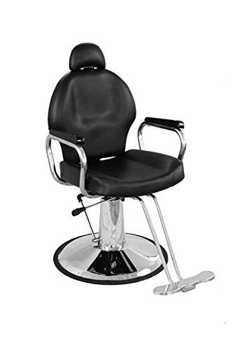 BarberPub All Purpose Hydraulic Barber Chair Salon Spa Styling Equipment (6154-9838, Black) by BarberPub