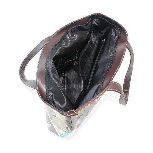 muticolour cm della Tote elaborazione colorate M cuoio dell'unità COOSUN di Tote Paws spalla borse maniglia Large a di 40x29x9 Bag HqzwFR