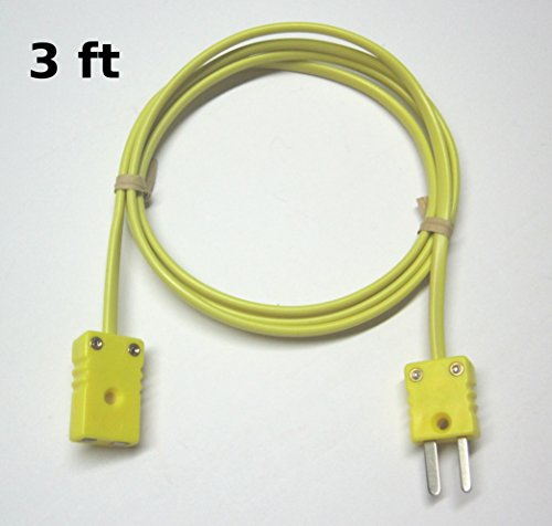 - K-Type Thermocouple Extension Cable Wire with Miniature Mini Thermocouple Connectors 3 ft (= 1 yard) long
