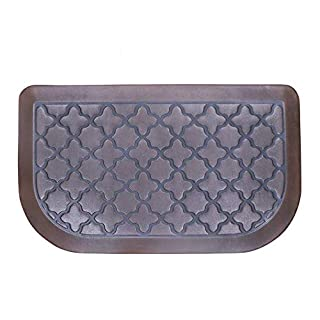 Anti Fatigue Kitchen Floor Mat by Butterfly, 18x30 Inch Extra Thick Cushion Comfort Mat Home Kitchen Office Standing Desk Mats, Dark Brown