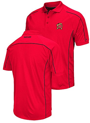 Maryland Terrapins Mens Red Chiliwear Synthetic Overtime Polo Shirt (XX-Large)