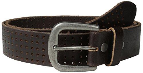 Bill Adler Men's Perforated Jean Belt, Brown, - Bill Belt