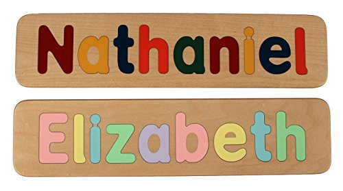 name puzzle raised letters handmade wooden custom personalized