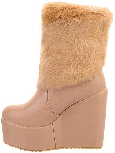 UK beige Size Women's 3 Calaier Camouth Boots fwBq1F