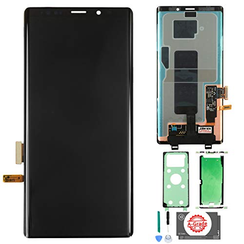 KR-NET [No Frame] AMOLED LCD Display Touch Screen Digitizer Replacement for Samsung Galaxy Note 9 N960U N960F, with Tools and Adhesive