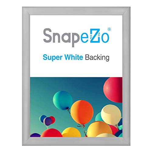 SnapeZo Poster Frame 24x32 Inches, Silver 1.2 Inch Aluminum Profile, Front-Loading Snap Frame, Wall Mounting, Premium Series (Picture Frame 24 X 32 Silver)