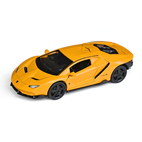 Tianmei 1:32 Scale Supercar LP770 Styling Alloy Die-Cast Car Model Collection, Children's Play Vehicles and Pull Back Kids Toys with Open Doors Will Trigger Sound & Light (LBJN - Yellow)