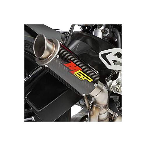 Hotbodies Racing 17-18 BMW S1000RR MGP Growler Slip-On Exhaust (Carbon Fiber with Rolled Tip) (Best Exhaust For Bmw S1000rr)