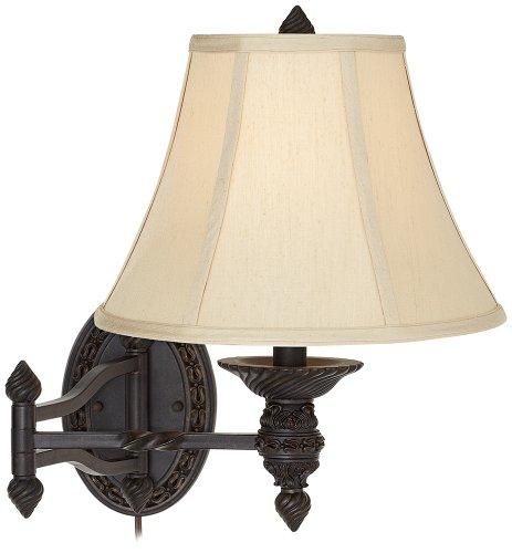 Godia Bronze Oval Plug In Swing Arm Wall Lamp Wall