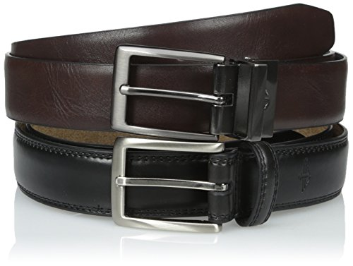Dockers Men's Reversible Belt and Black Dress Belt Gift Set, Assorted, Large (Belt Set)