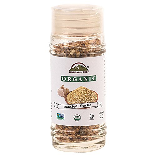 Himalayan Chef Organic Roasted Garlic, USDA Organic Garlic, 1.5-Ounce Glass Shaker, Sodium Free & MSG Free